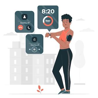 Illustration de concept de smartwatch