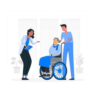 Illustration de concept de soins médicaux
