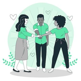 Illustration de concept de solidarité