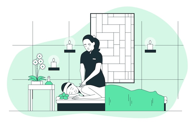 Illustration de concept de spa