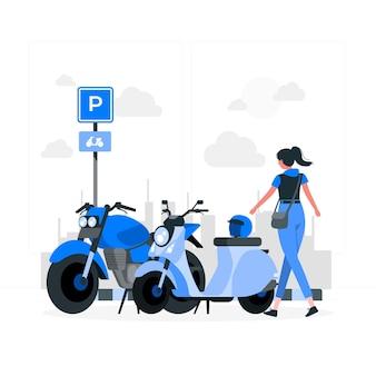 Illustration de concept de stationnement