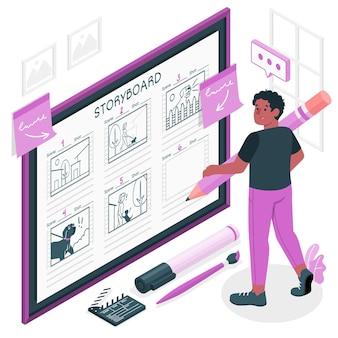 Illustration de concept de story-board