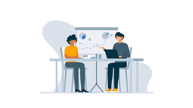 Illustration de concept de stratégie d'entreprise