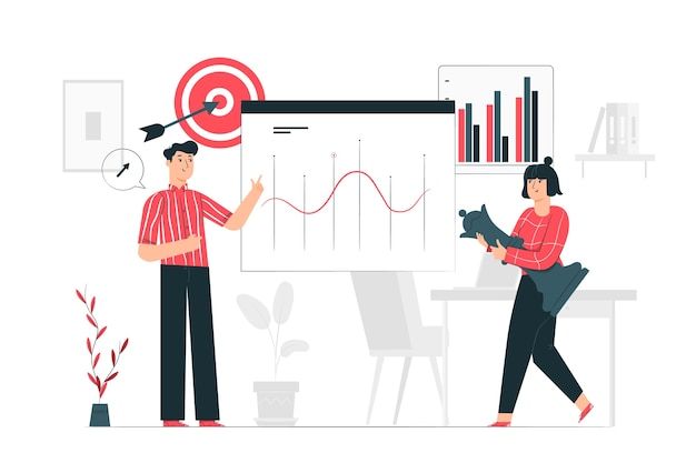 Illustration de concept de stratégie sociale