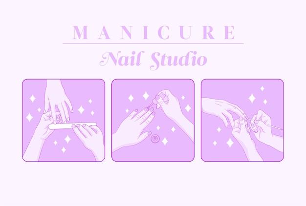 Illustration de concept de studio d'ongle