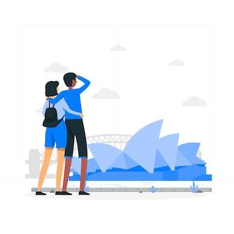 Illustration De Concept De Sydney Vecteur gratuit
