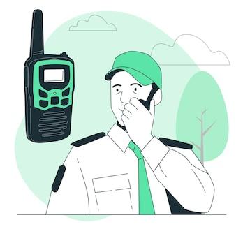 Illustration de concept de talkie-walkie