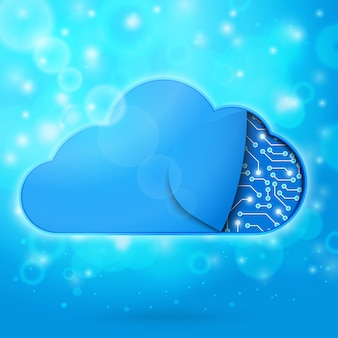 Illustration de concept de technologie informatique en nuage