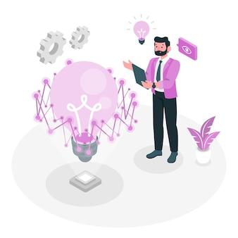 Illustration de concept de technologie visionnaire
