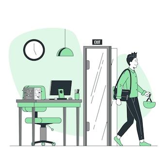 Illustration de concept de temps de sortie