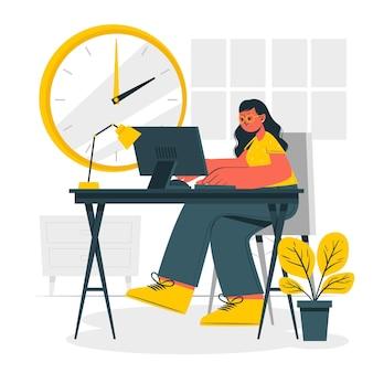 Illustration de concept de temps de travail