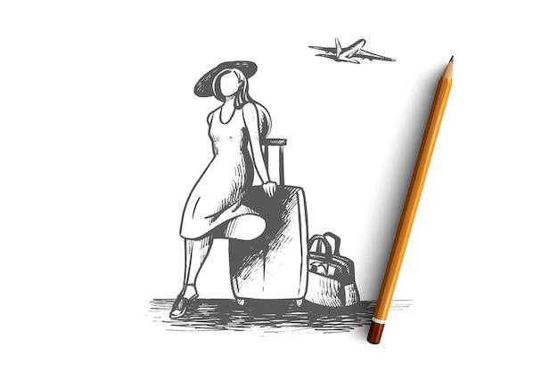 Illustration de concept de temps de voyage