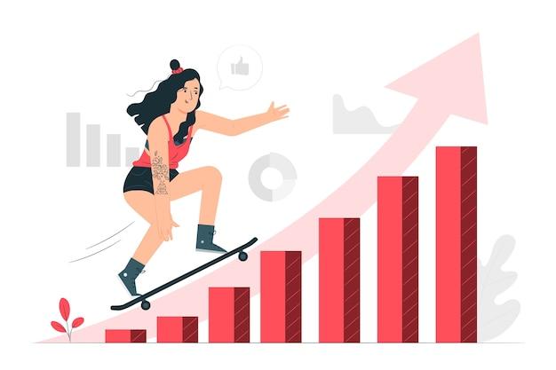 Illustration de concept de tendances de données