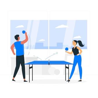 Illustration de concept de tennis de table