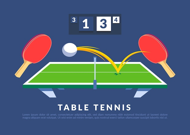 Illustration de concept de tennis de table