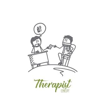 Illustration de concept de thérapeute