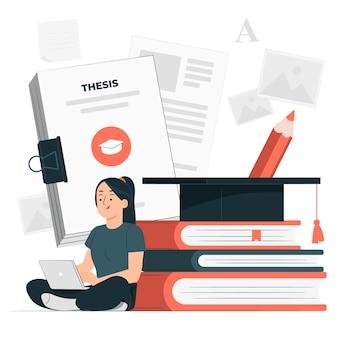 Illustration de concept de thèse