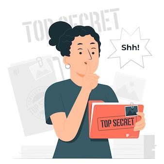 Illustration de concept top secret