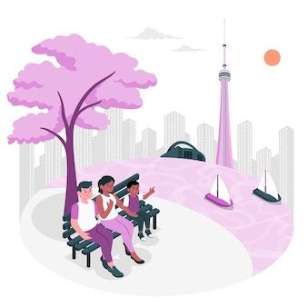 Illustration de concept de toronto