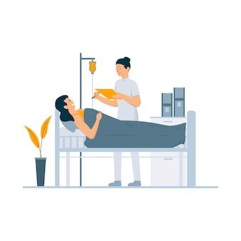 Illustration de concept de traitement hospitalier