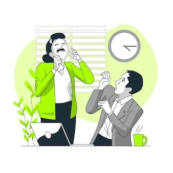 Illustration de concept de transmission de virus