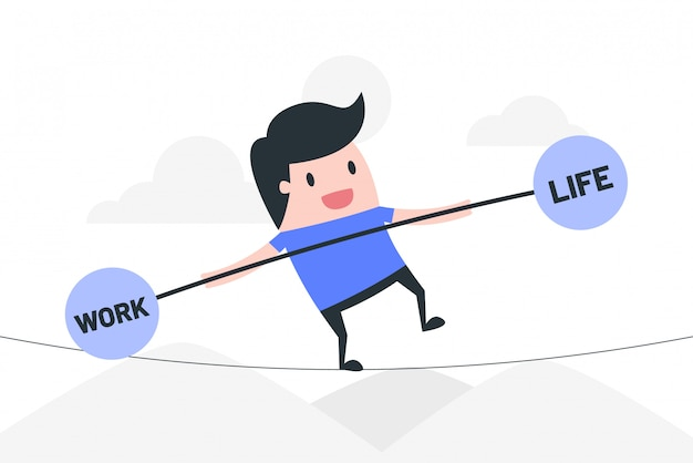 Illustration de concept de travail vie équilibre.