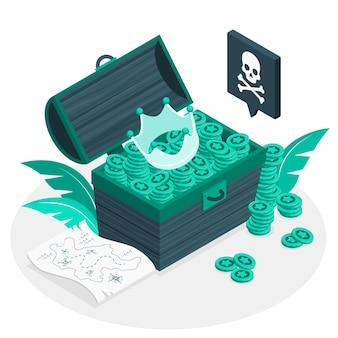 Illustration de concept de trésor