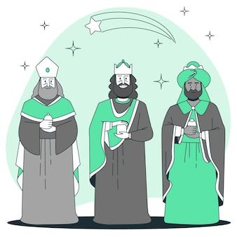 Illustration de concept de trois sages