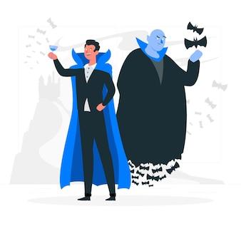 Illustration de concept de vampires