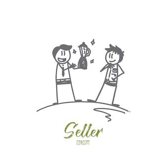 Illustration de concept de vendeur