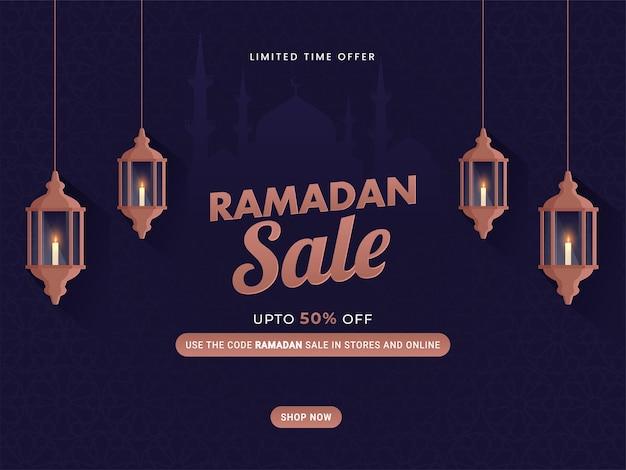 Illustration de concept de vente ramadan