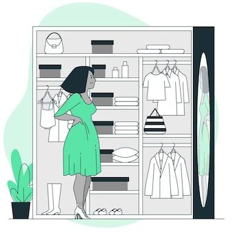 Illustration de concept de vestiaire
