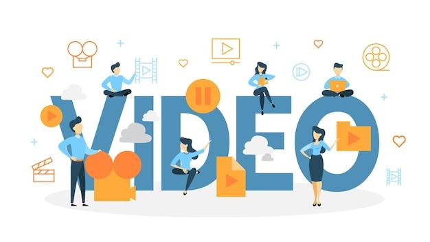 Illustration de concept vidéo.