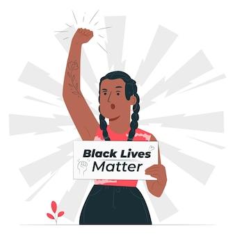Illustration de concept de vie noire importe