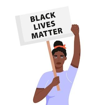Illustration de concept de vie noire.