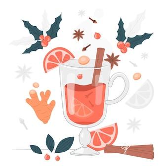 Illustration de concept de vin chaud