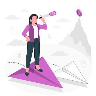 Illustration de concept de vision d'entreprise