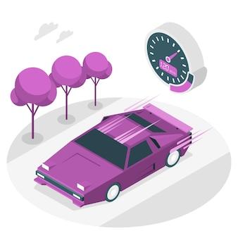 Illustration de concept de voiture rapide