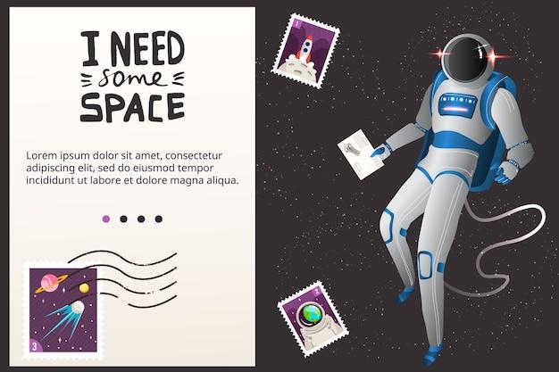 Illustration de concept de voyage spatial.