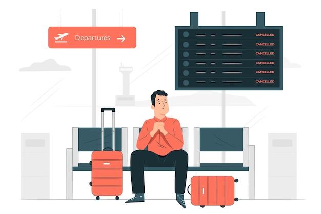 Illustration de concept de voyageur échoué