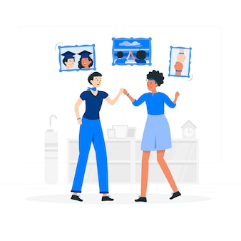 Illustration de concept de vrais amis