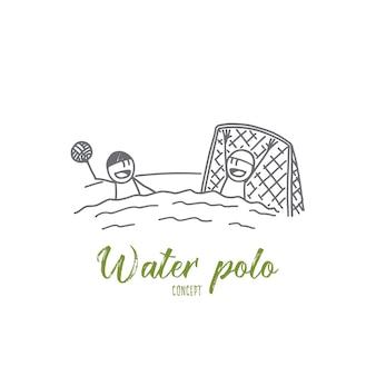 Illustration de concept de water-polo