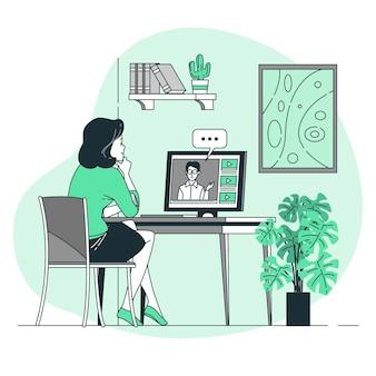 Illustration de concept de webinaire