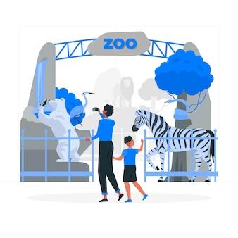 Illustration de concept de zoo