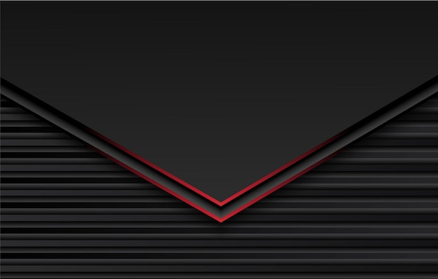 Illustration de conception abstraite cadre noir rouge métallique