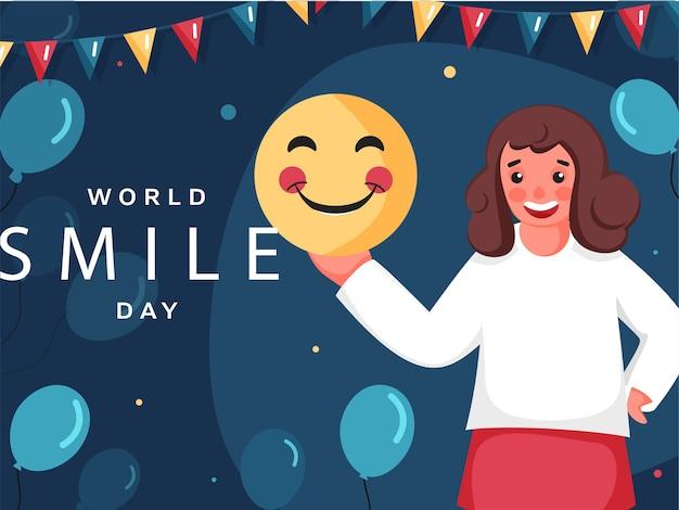 Illustration de conception de l'affiche de la journée mondiale du sourire