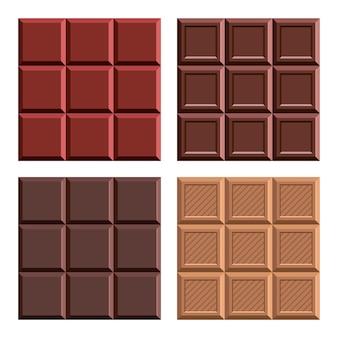 Illustration de conception de barre de chocolat isolé sur fond blanc