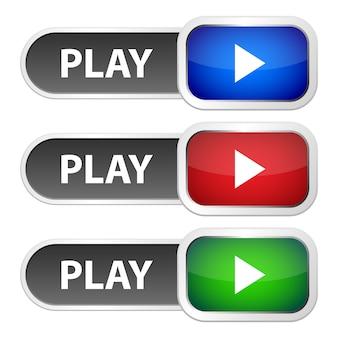 Illustration de conception de bouton de lecture isolé sur fond