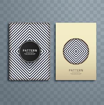 Illustration de conception brochure abstrait modèle créatif