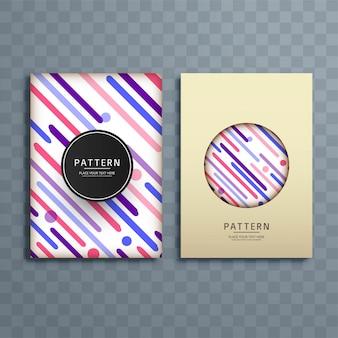 Illustration de conception brochure abstrait motif coloré